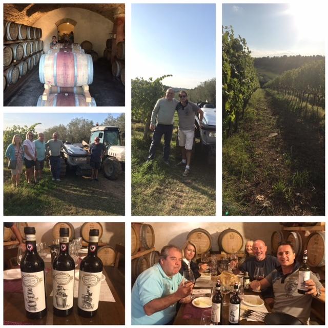 Customers enjoy Tuscan gastro/wine tour